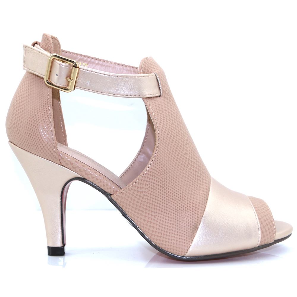 Margate - KATE APPLEBY POWDER PINK PEEP TOE ANKLE BOOTS