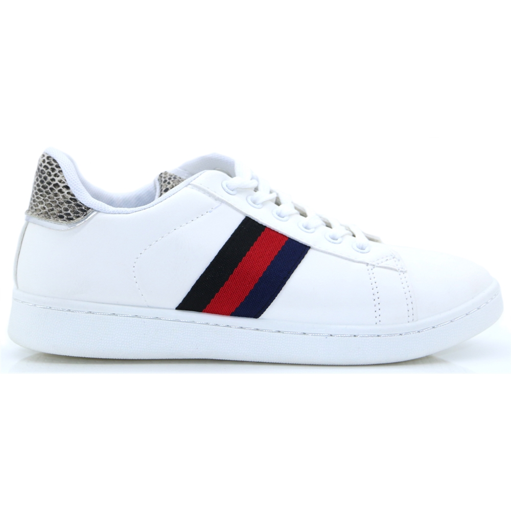 FF16 - PANACHE WHITE STRIPE TRAINERS