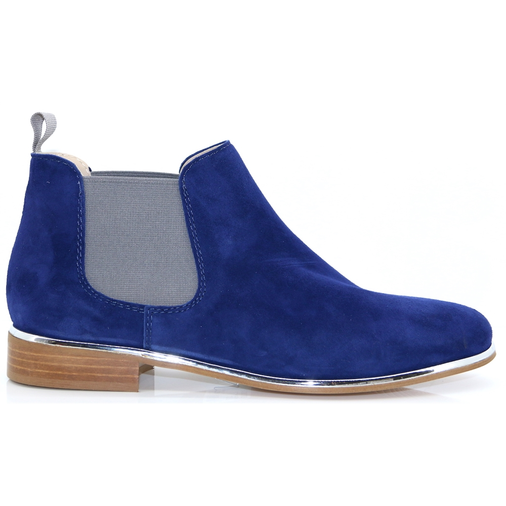 4669 - NICOLA SEXTON BLUE AND GREY CHELSEA BOOTS