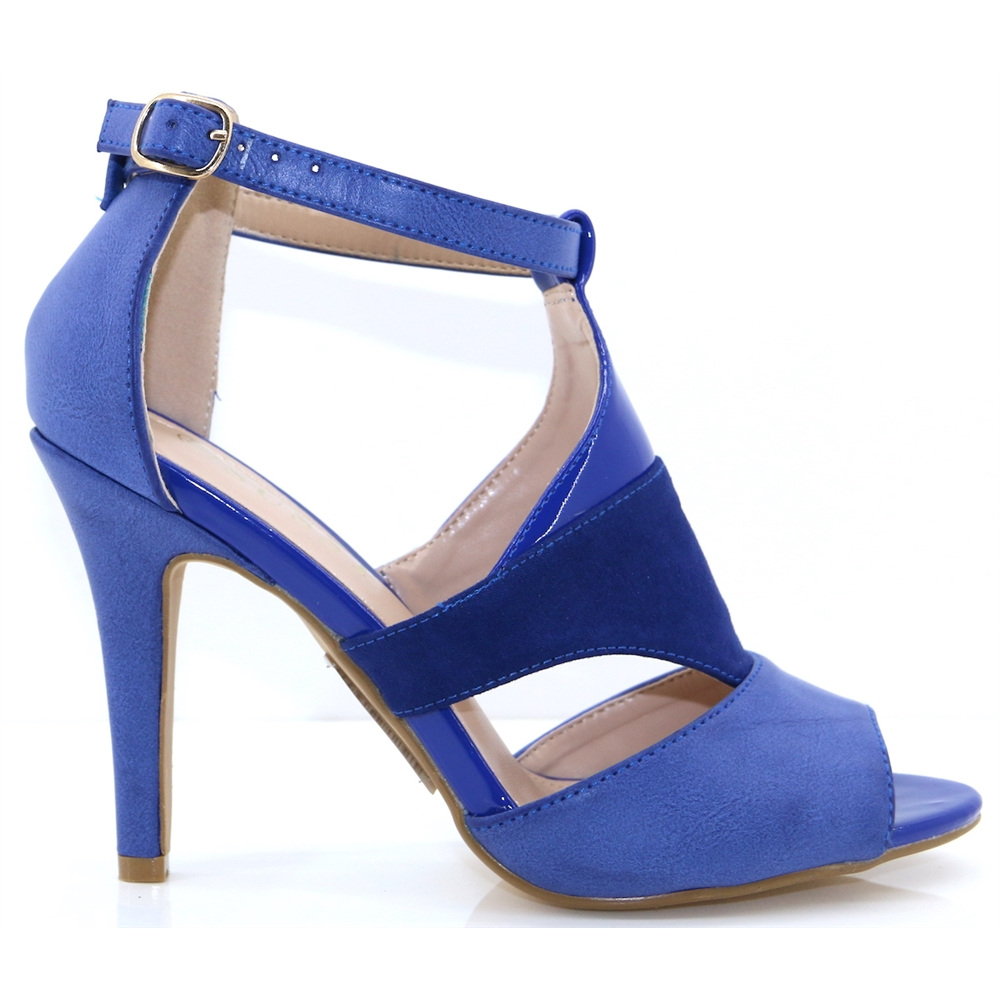 Kate-9 - SUSST BLUE PEEP TOE HEELS