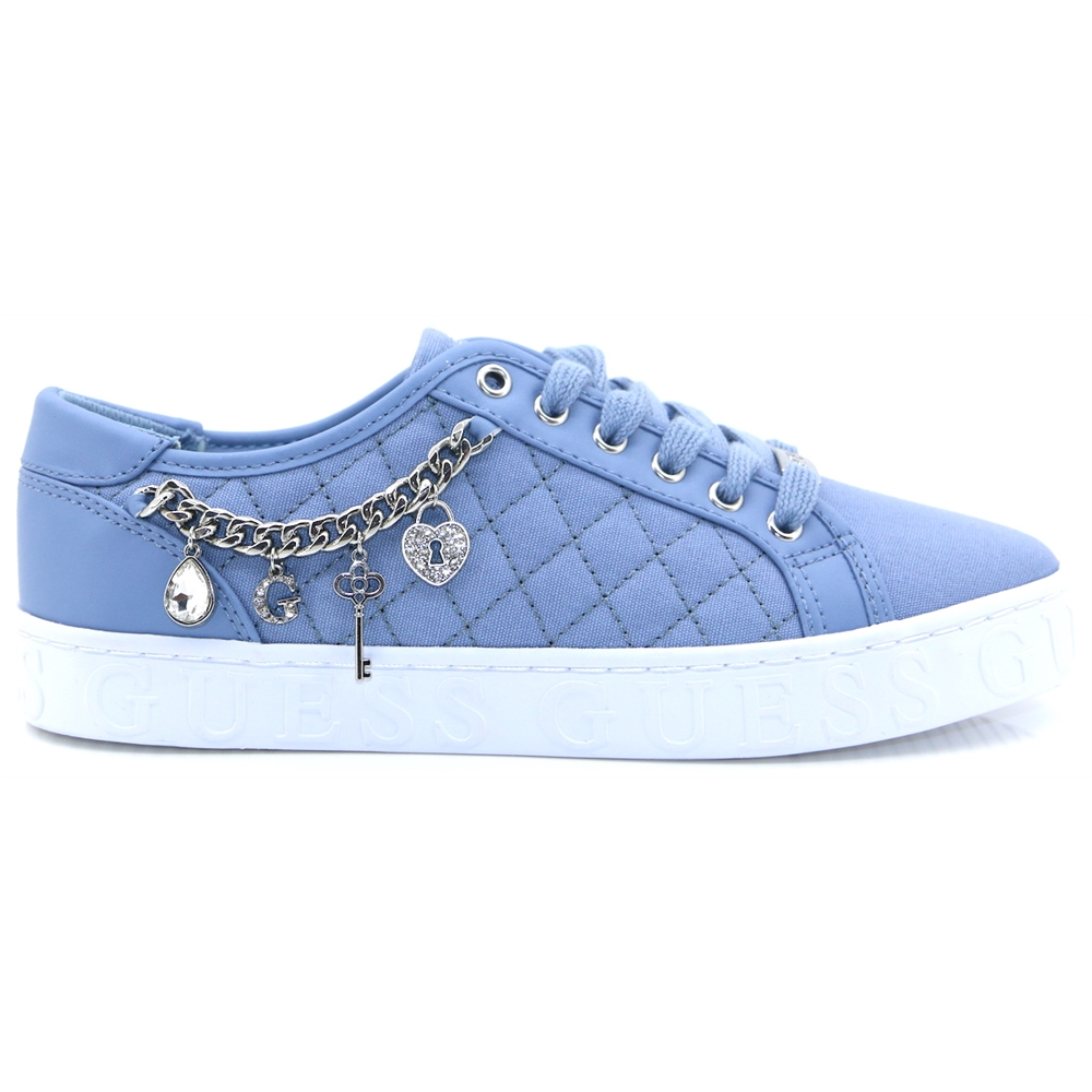 FL6GRL FAB12 - GUESS BLUE QUILTED TRAINERS