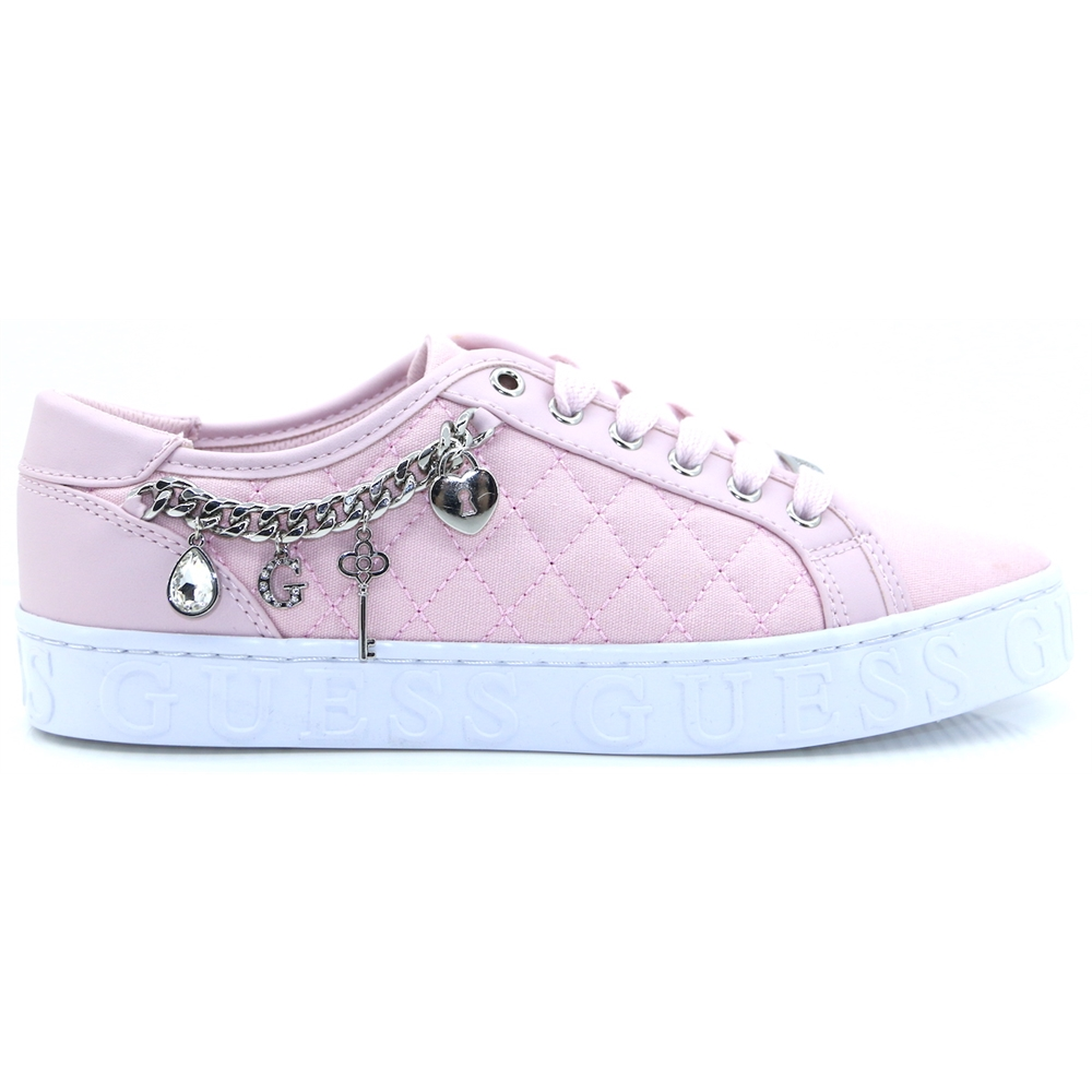 FL6GRL FAB12 - GUESS BLUSH QUILTED TRAINERS