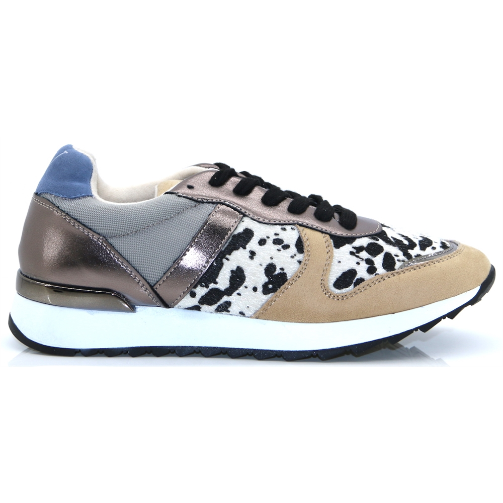 BK1991 - VANESSA WU PEWTER AND BEIGE TRAINERS