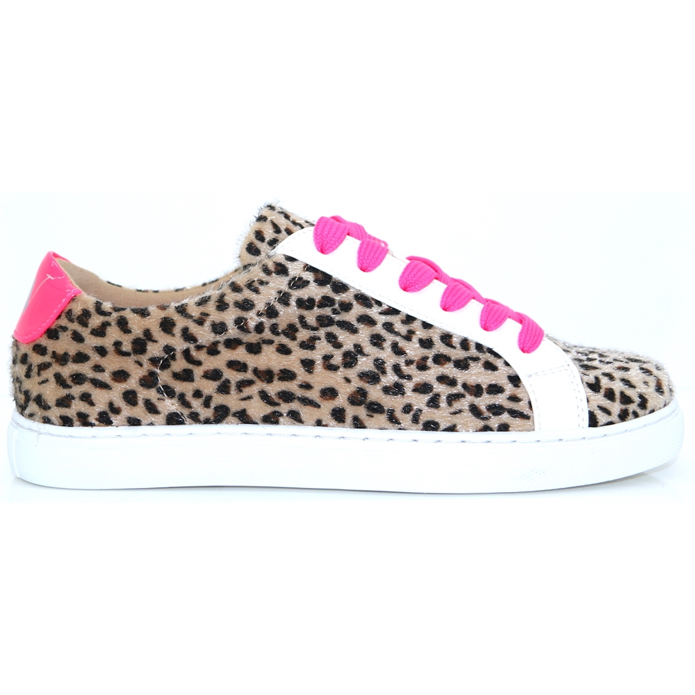 BK1965 - VANESSA WU LEOPARD PRINT AND PINK TRAINERS