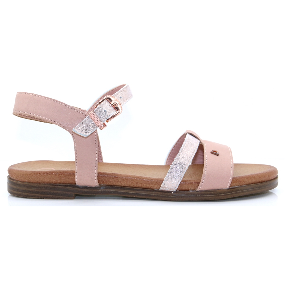 Crazy Fool - UNA HEALY PINK SHIMMER SANDALS