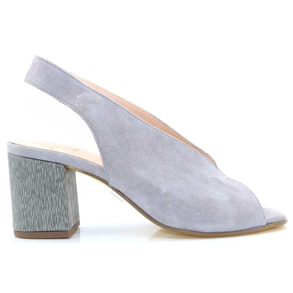 Althea - CARA GREY SUEDE HEELS