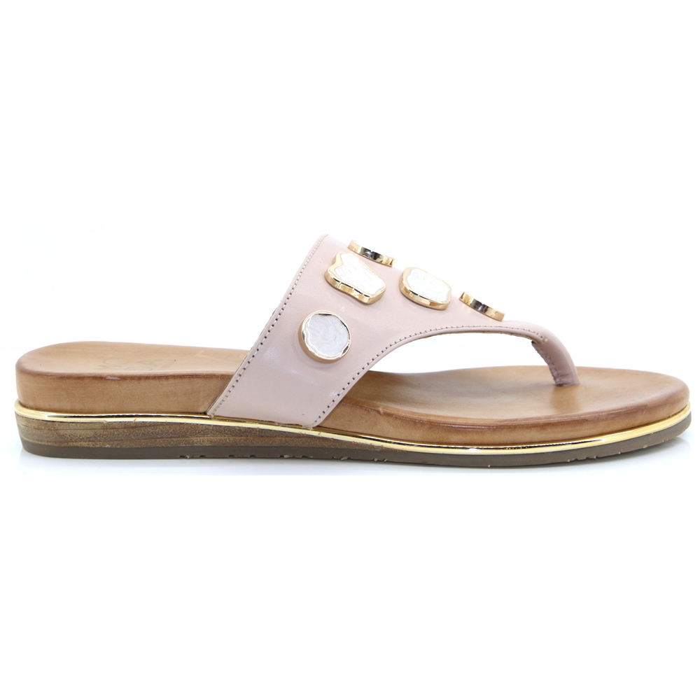 Oller - MODA IN PELLE NUDE SANDALS