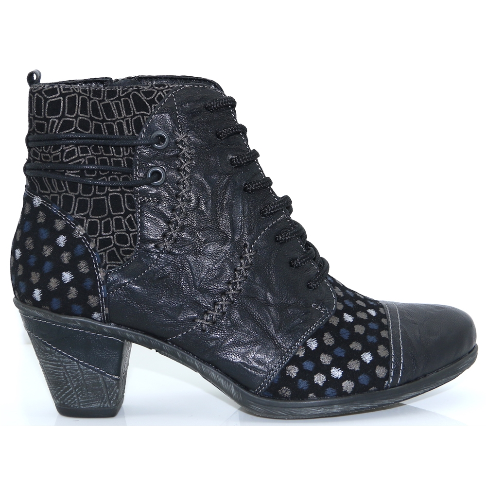 D8786 - REMONTE BLACK MULTI ANKLE BOOTS