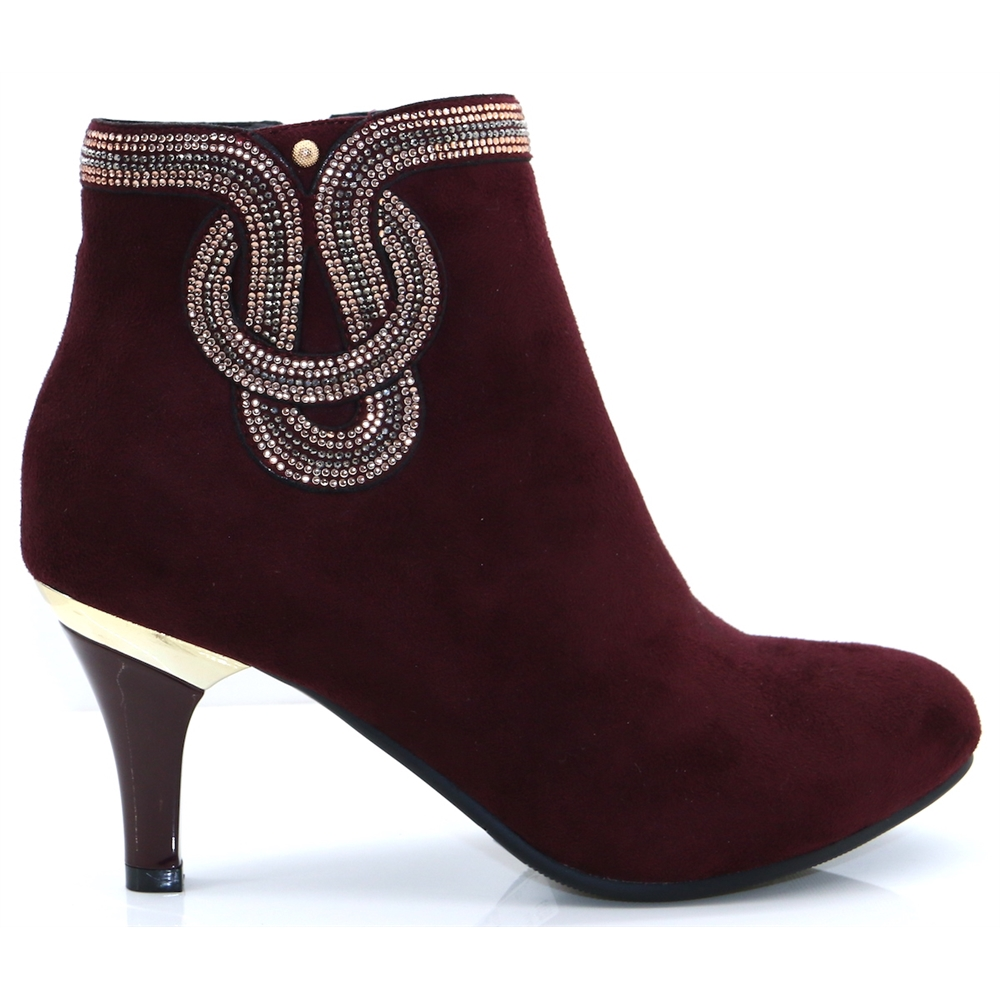 Keefta - ZANNI & CO BORDO ANKLE BOOTS