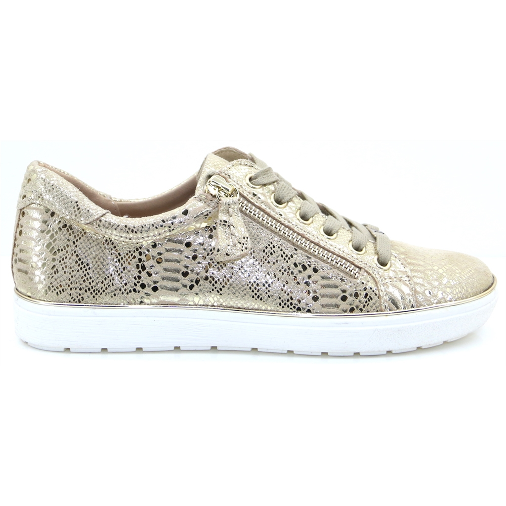 23606-24 - Caprice Gold Snake Trainers
