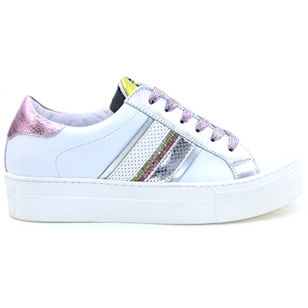 UG 3015 - Meline White Pink and Yellow Trainers