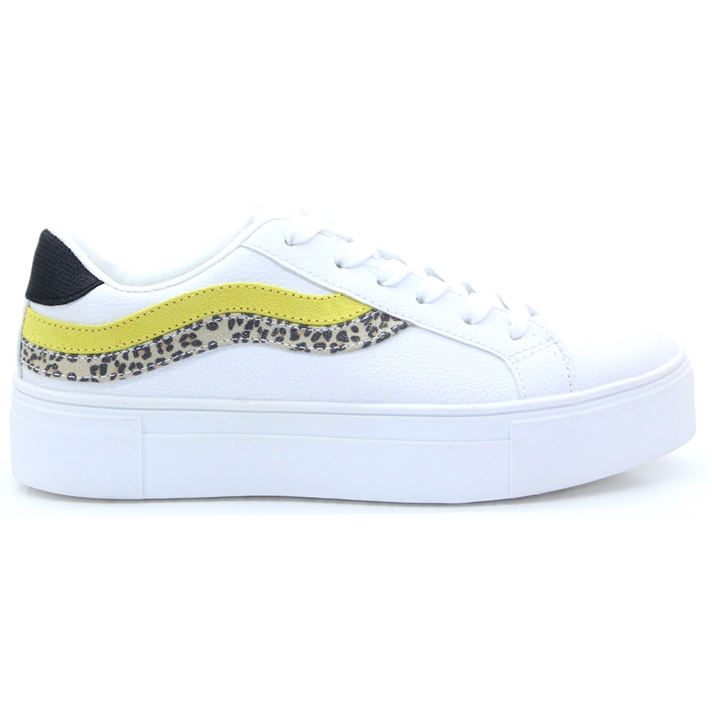 500801 - Sprox White and Yellow Trainers