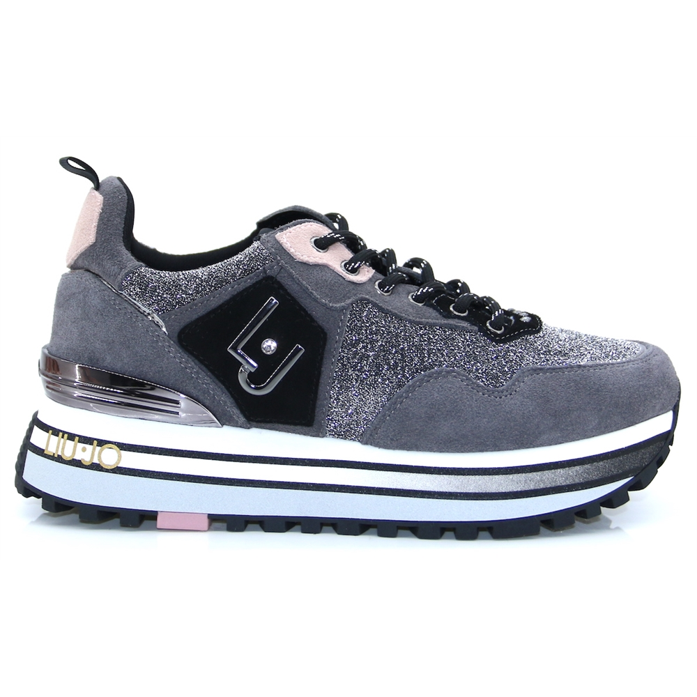 BF0069 TX130 - Liu Jo Grey Multi Trainers