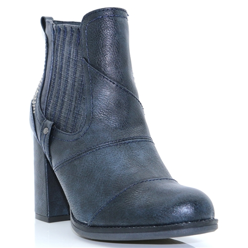 1251-501 - MUSTANG NAVY ANKLE BOOTS