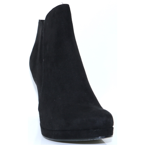 25316-21 - TAMARIS BLACK SUEDE ANKLE BOOTS