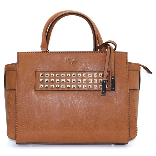 VC710606 - GUESS COGNAC HANDBAG WITH STUDS