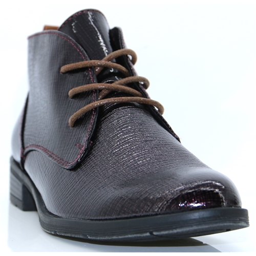 25120-31 - MARCO TOZZI BURGUNDY ANKLE BOOTS