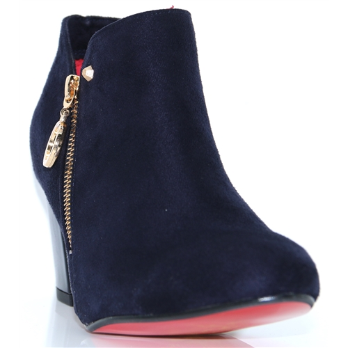 Balham/Bromley - KATE APPLEBY NAVY ANKLE BOOTS