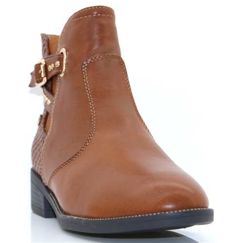 48433 - XTI TAN ANKLE BOOTS