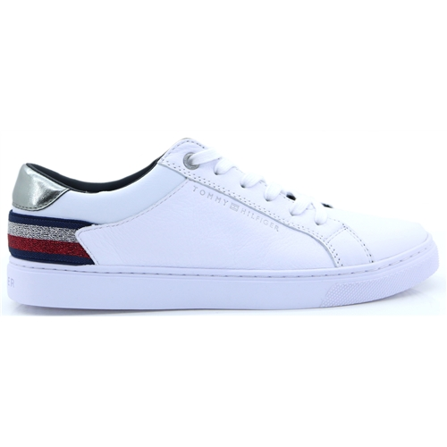 Tom.Ess.Sneaker - TOMMY HILFIGER WHITE TRAINERS