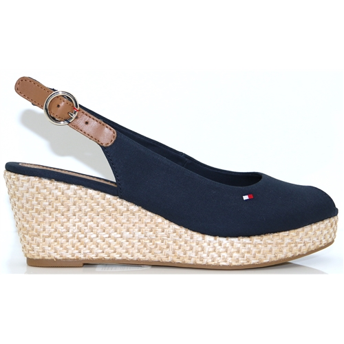 Elba Basic Sling Back - Tommy Hilfiger MIDNIGHT MID HEIGHT WEDGES
