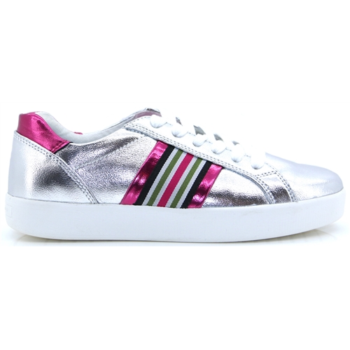 23702-32 - MARCO TOZZI SILVER AND PINK TRAINERS