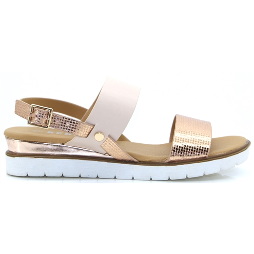 905-2-3 - REDZ NUDE AND ROSE GOLD SANDALS
