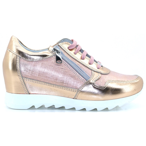 Bethy - MODA IN PELLE ROSE GOLD TRAINERS