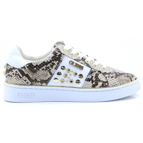 FL7BRA - GUESS NATURAL SNAKE PRINT TRAINERS
