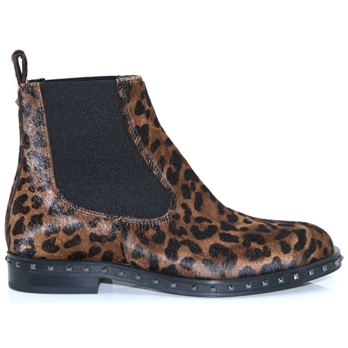 4339 - ALPE LEOPARD PRINT CHELSEA BOOTS