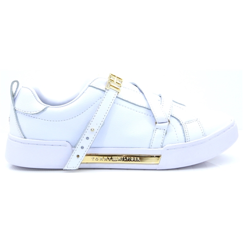 Branded TH Hardware Sneaker - Tommy Hilfiger WHITE TRAINERS