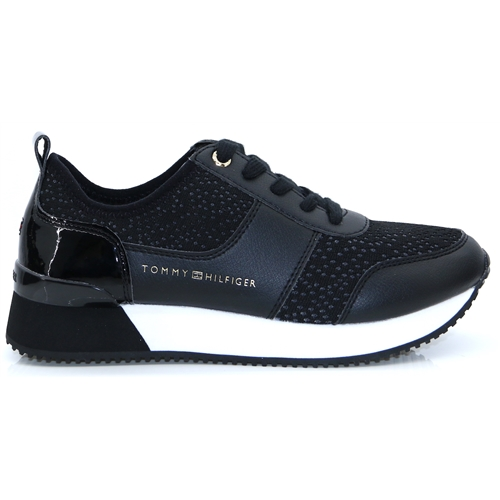 City Iconic Knitted Sneaker - Tommy Hilfiger BLACK TRAINERS
