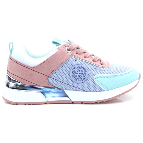 FL5MR5FAB12 - GUESS LIGHT BLUE MULTI TRAINERS