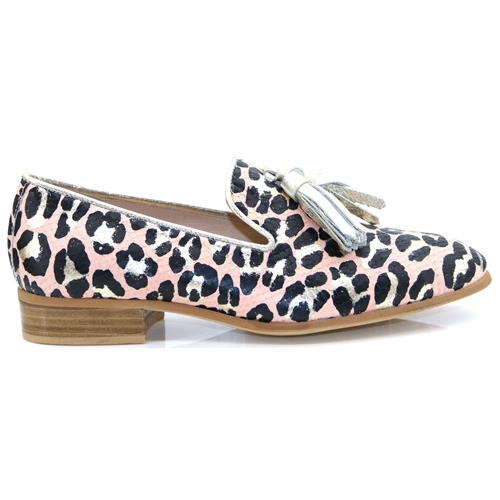 B-7601 - Wonders Blush Leopard Print Loafers