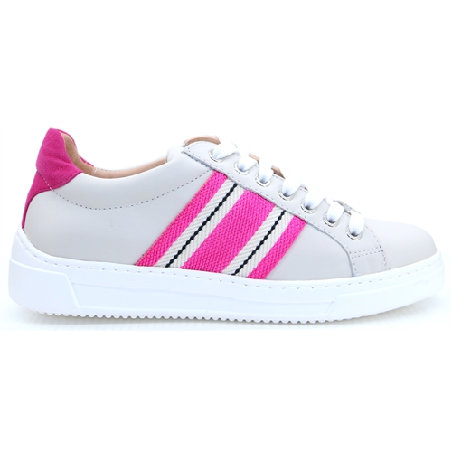 Farola - Unisa Off White and Pink Stripe Trainers