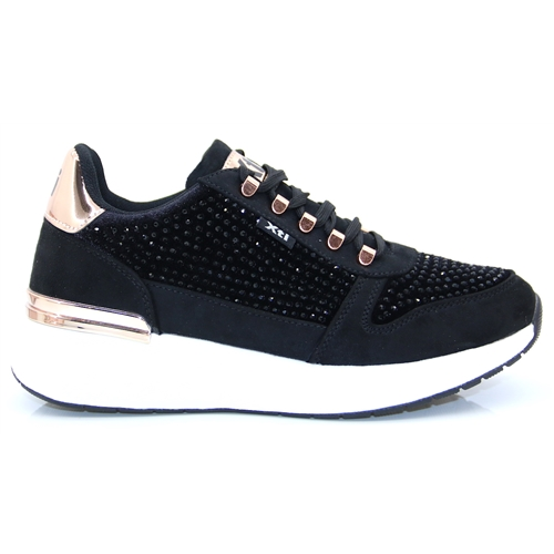44365 - Xti Black Sparkle Trainers