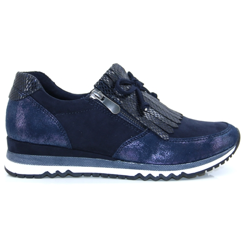 24702-35 - Marco Tozzi Navy Comb. Slip On Trainers