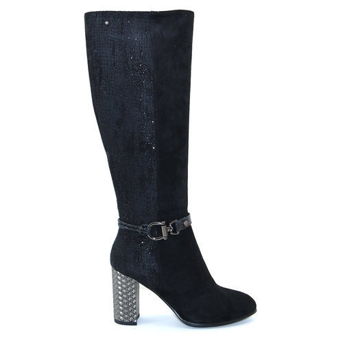 Hisah - Zanni & Co Black Knee High Boots