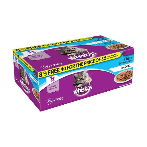 Whiskas Pouch Jelly 40 for 32 Fisherman