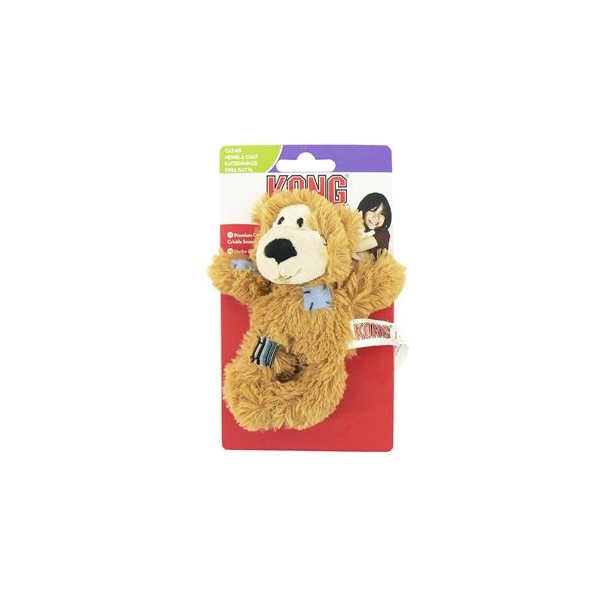 Kong Soft Patchwork Bear With Catnip