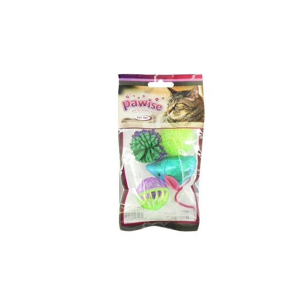 Pawise Cat Toy Assortment 4 Pack