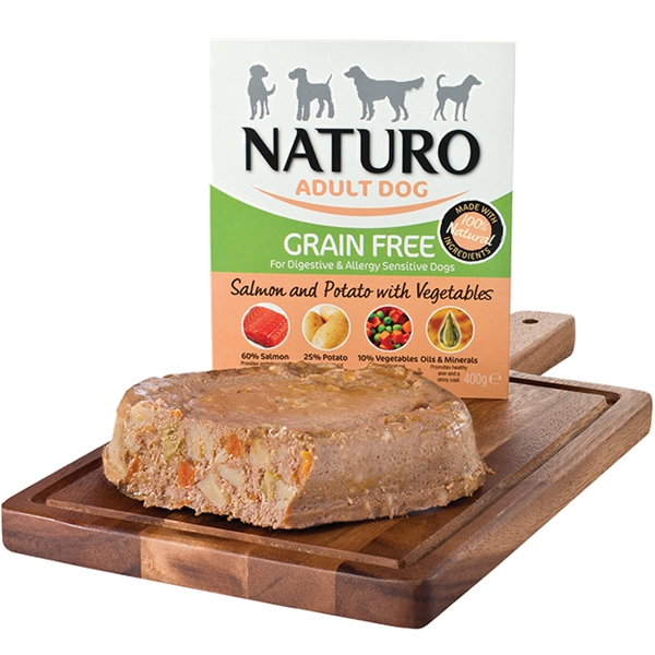 Naturo Adult Grain Free Salmon 400g Tray