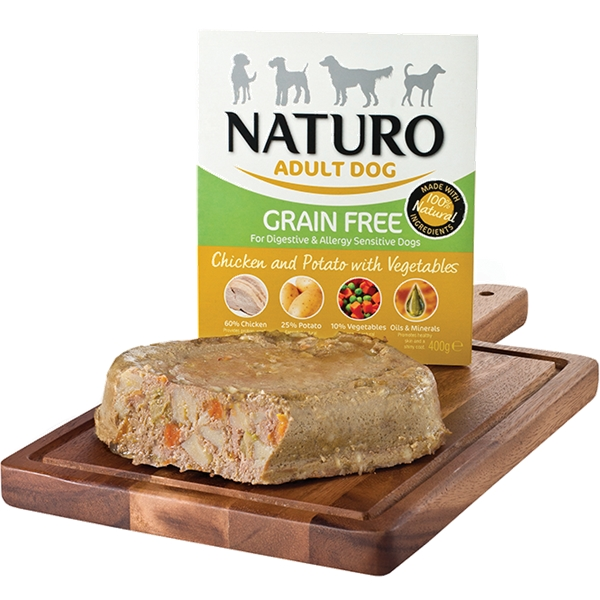 Naturo Adult Grain Free Chicken 400g Tray