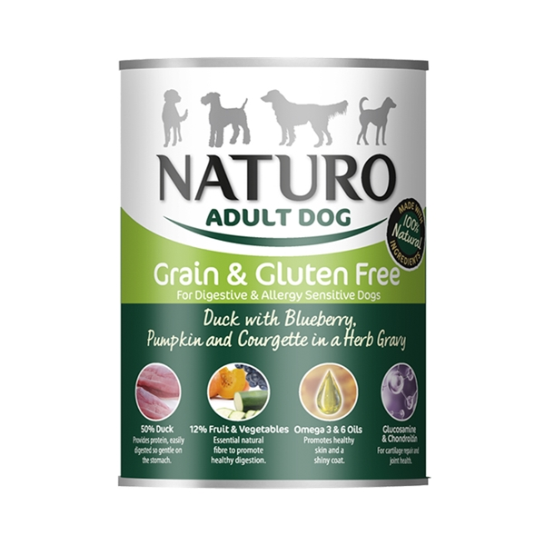 Naturo Adult Duck Grain Free 390g Tin