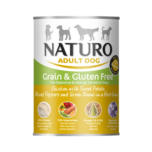 Naturo Adult Chicken Grain Free 390g Tin