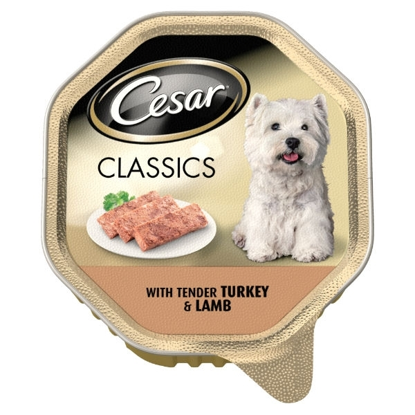 Cesar Classics Turkey & Lamb 150g Tray