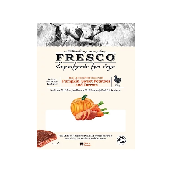 Fresco Superfoods Chicken & Pumpkin Bites 100g