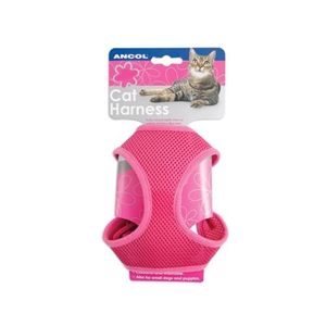 Ancol Large Pink Cat Soft Harness & Lead Set