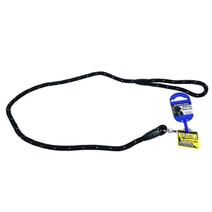 Ancol Black Reflective Rope Lead