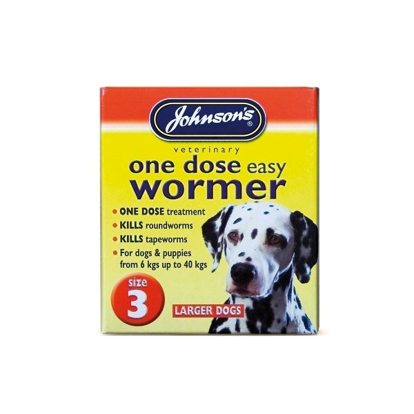 Johnsons Large Dog One Dose Easy Wormer
